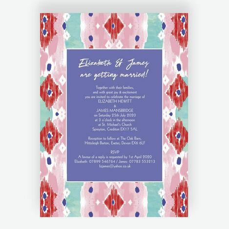 Summer Festival Wedding Stationery