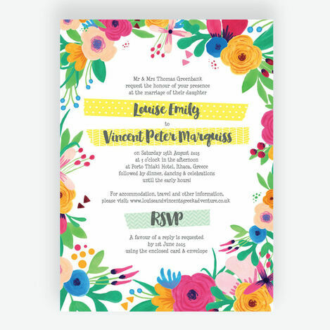 Floral Fiesta Wedding Stationery