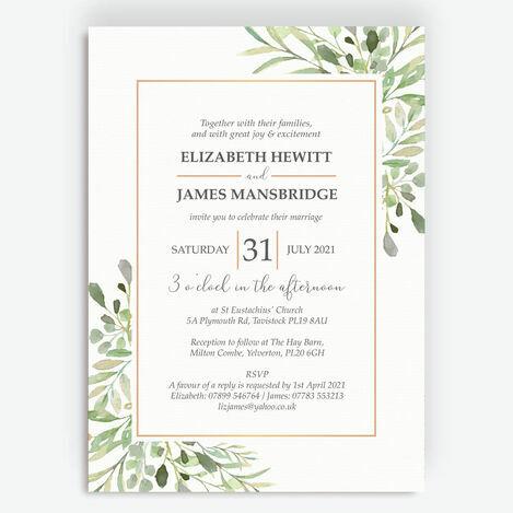 Greenery Frame Wedding Stationery