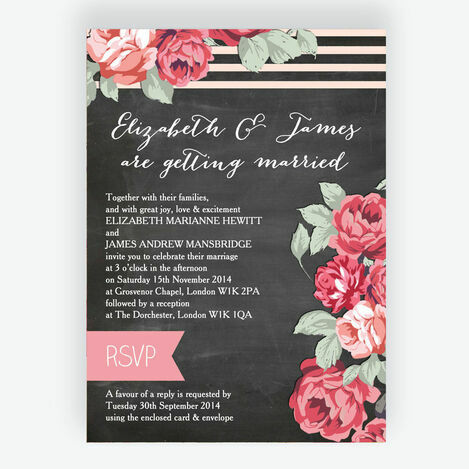 Rustic Floral Wedding Stationery