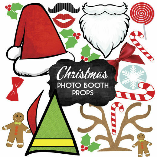 Printable diy photo booth props signs christmas photo booth props solutioingenieria Images