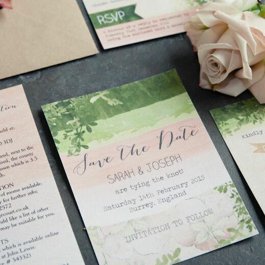 Personalised wedding stationery invitations wedding stationery save the date stopboris Choice Image