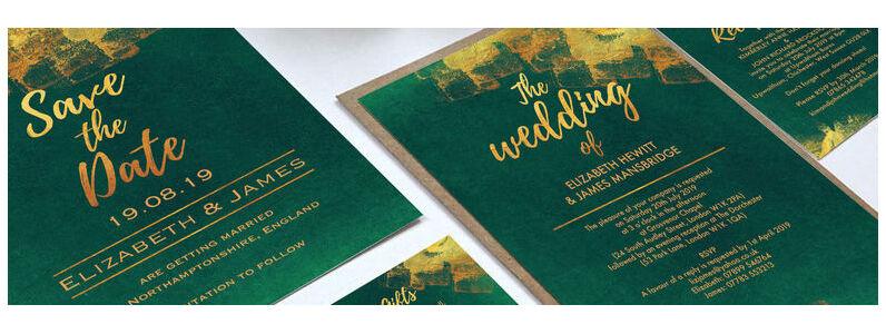 Emerald & Gold Wedding Stationery