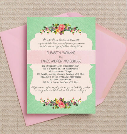 Vintage Trinkets Wedding Invitation