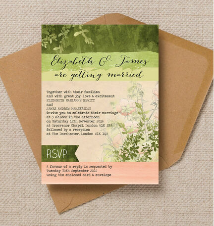 Wild Garden Wedding Invitation