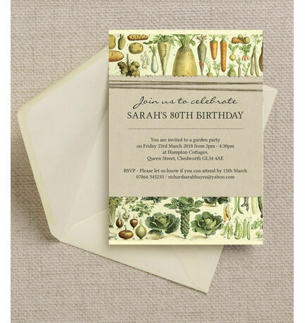 Gardening allotment themed ladies 80th birthday party invitation gardening allotment themed ladies 80th birthday party invitation filmwisefo