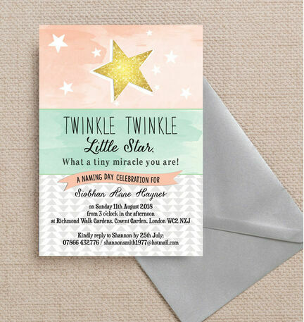 twinkle star naming ceremony day invitation from 0 80 each
