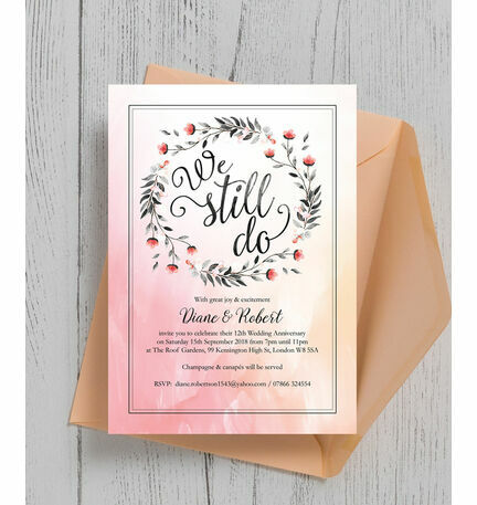 We still do wedding anniversary invitation from 100 each we still do wedding anniversary invitation stopboris Images