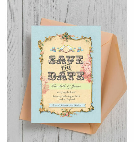 Pastel Pretty Save the Date
