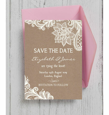 Rustic Lace Save the Date