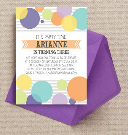 Dotty Delight Party Invitation