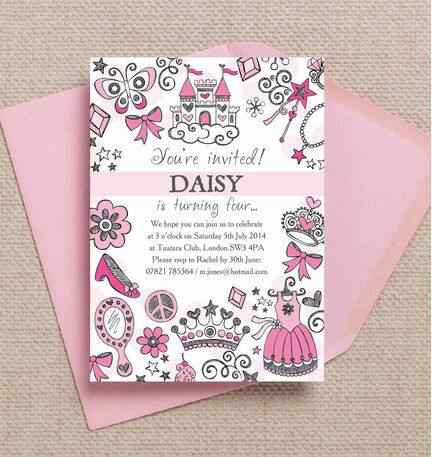 Fairy Princess Party Invitation