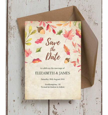 autumn leaves save the date from 0 85 each