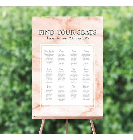Blush Marble Wedding Seating Plan