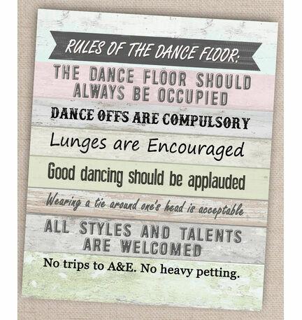 Printable Dance Floor Rules Poster