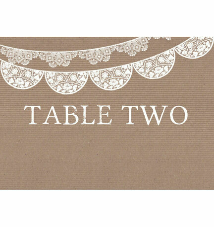 Rustic Lace Bunting Table Name
