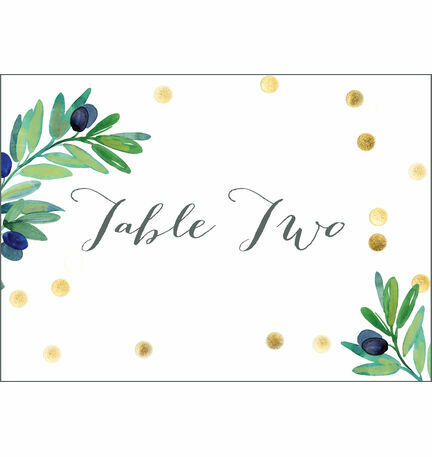 Olive Wreath Table Name