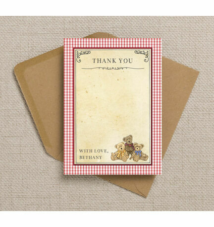 Teddy Bears' Picnic Thank You Cards