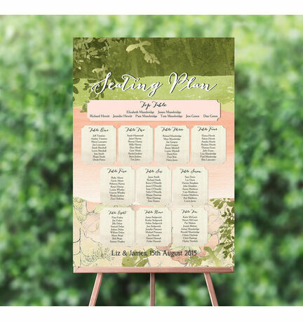 Wild Garden Wedding Seating Plan