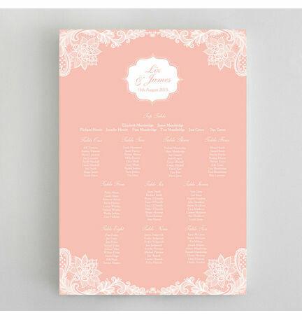 Romantic Lace Wedding Seating Plan