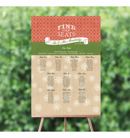 Rustic Winter Wedding Seating Plan
