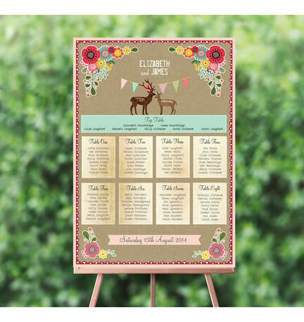 Rustic Woodland Wedding Seating Plan