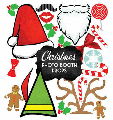 Christmas Holiday Themed Printable Photo Booth Props