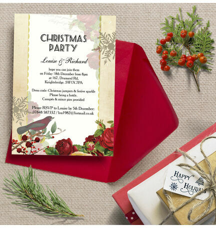 Personalised 'Winter Wonderland' Christmas Party Invitations - Printed or Printable