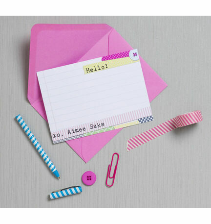 Personalised 'Washi Tape' Thank You Cards - Printable or Printed