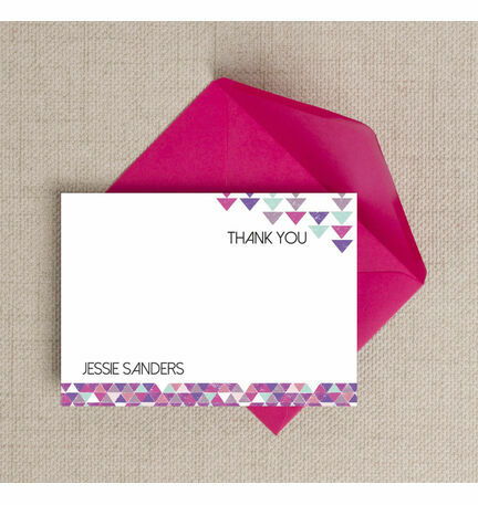 Personalised Geometric Thank You Cards  - Printable or Printed