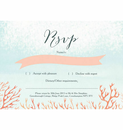 Tropical Coral RSVP