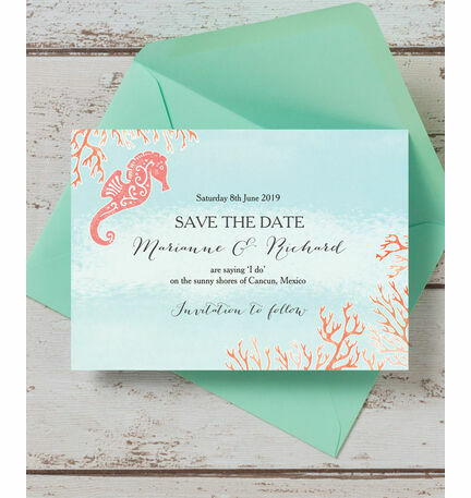 Tropical Coral Save the Date