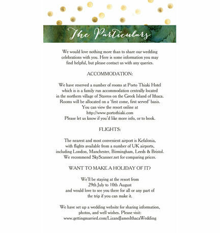 Olive Wreath Guest Information Card