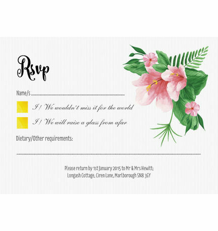 Tropical Flower RSVP
