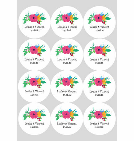 Floral Fiesta Stickers - Sheet of 12