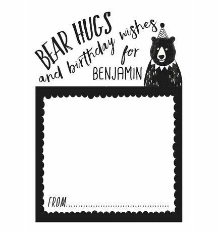 Grizzly Bear Birthday Wish Cards