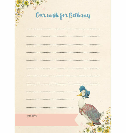 Beatrix Potter Jemima Puddle-Duck Wish Card