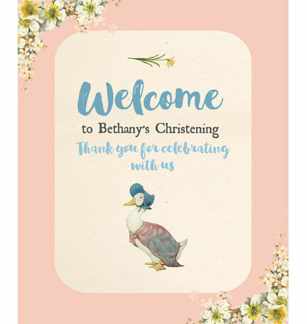 Beatrix Potter Jemima Puddle-Duck Welcome Sign