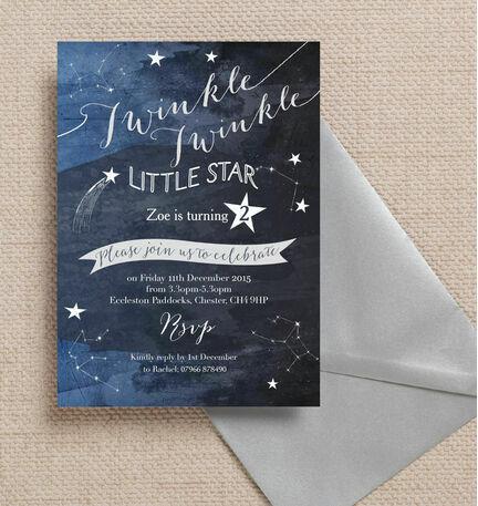 Twinkle Twinkle Little Star Party Invitation