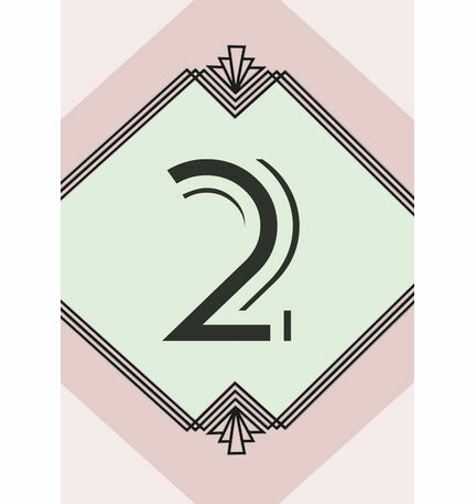 Pastel Art Deco Table Number