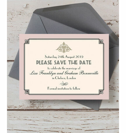 Pastel Art Deco Save the Date