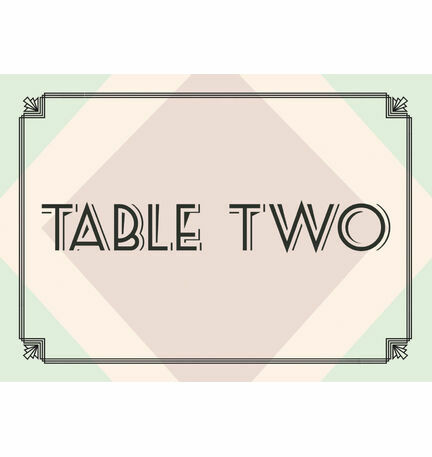 Pastel Art Deco Table Name