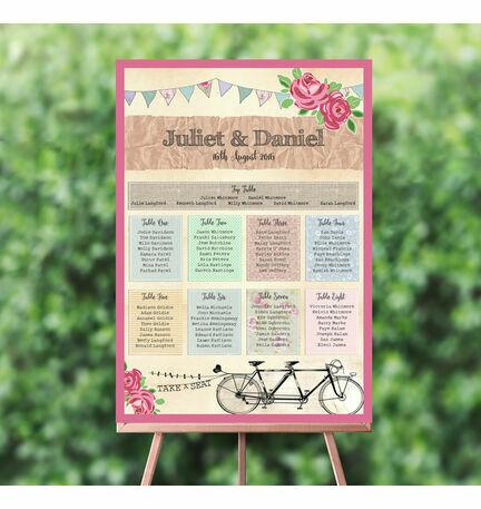 Tandem Bicycle Wedding Seating Plan