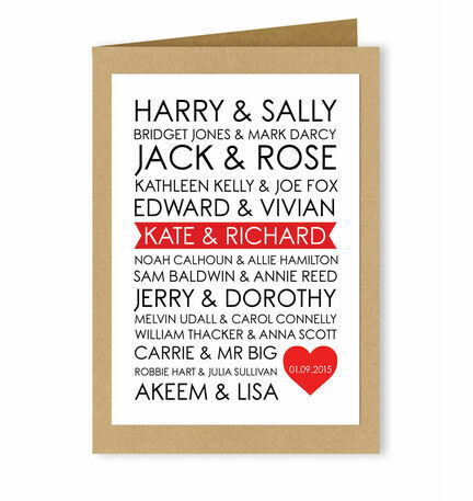 Personalised Rom-Com Couples Valentine's Day Card
