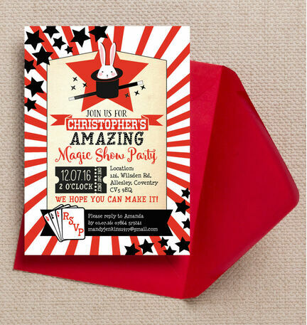 Magic Show Party Invitation
