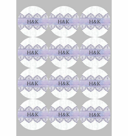 Lilac and Lavender Stickers - Sheet of 12