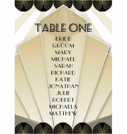 Art Deco Table Plan Card