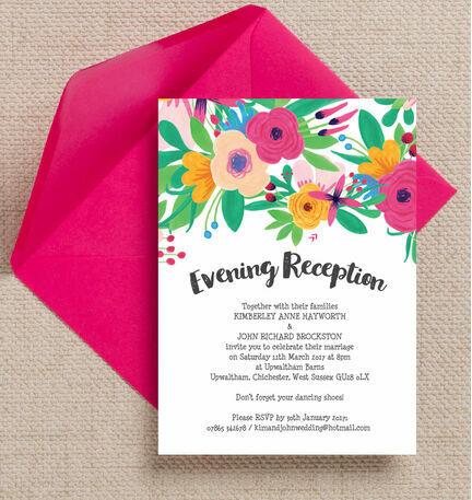 Floral Fiesta Evening Reception Invitation