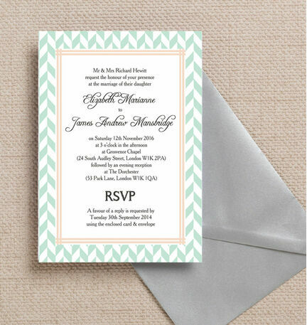 Pastel Bohemian Wedding Invitation