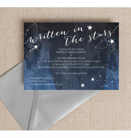 Midnight Stars Evening Reception Invitation